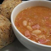 Stormy Day Bean and Ham Soup