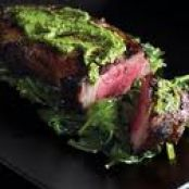 Charred Sirloin with Soy, Garlic & Coriander