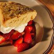 Orange flavored shortcakes with strawberries and cream