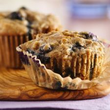 Oatmeal Whole Wheat Blueberry Muffins
