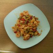 Shrimp Scampi with Pepper & Onion