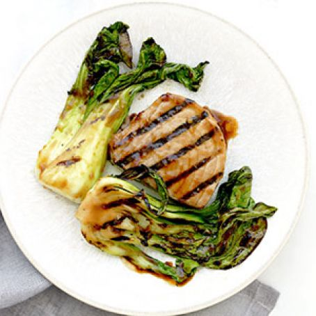 Soy Glazed Tuna Steaks with Baby Bok Choy