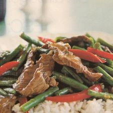 Ginger, Beef, and Green Bean Stir Fry