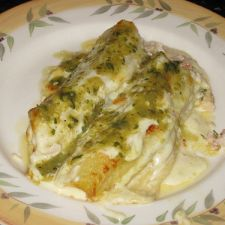 Maniladas with White Cheese and Roasted Tomatillos Sauce