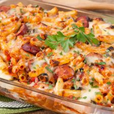 Baked Ziti with Chorizo and Spinach