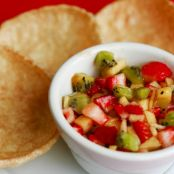 Apple Berry Salsa with Cinnamon Chips