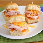 Turkey Cheddar Hawaiian Rolls