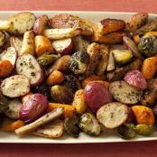Roasted Potatoes, Carrots, Parsnips and Brussel Sprouts by Giada De Laurentiis