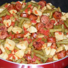 Sausage, Green Beans and Potato Skillet