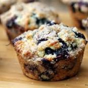 Blueberry Lemon Streusel Muffins