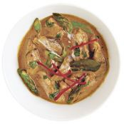 Panang Curry with Chicken, Asparagus & Mushrooms