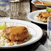Tilapia Cakes with Mango Coconut Curry Sauce