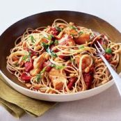 Capellini with Pine Nuts, Sun-Dried Tomatoes, and Chicken