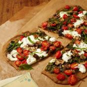 Veggie Pizza with Arugula Pesto