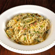 Lemon Butter Pasta with Artichokes & Capers