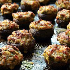 Garlic-and-Gruyère-Stuffed Mushrooms