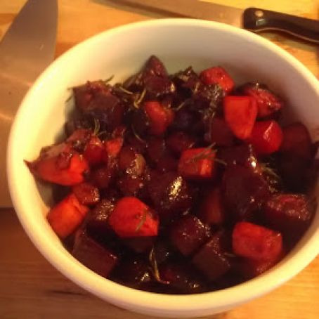 Beets with Rosemary and Balsamic Vinegar