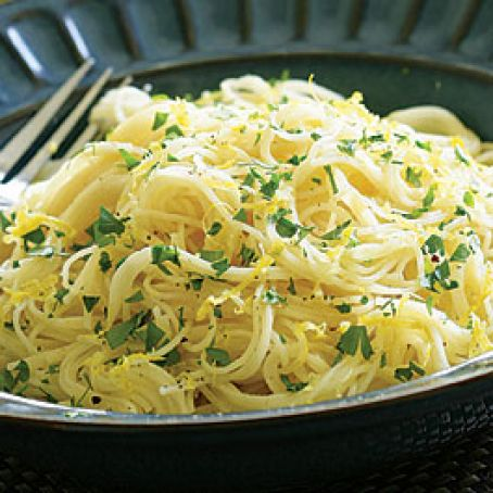 Angel Hair Pasta with Lemon Cream Sauce