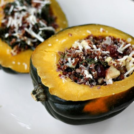 Apple Cider Quinoa Stuffed Acorn Squash