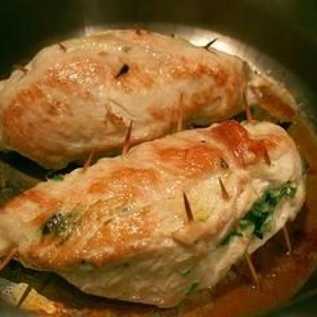 Spinach, Cheese, & Ham Stuffed Chicken Breast