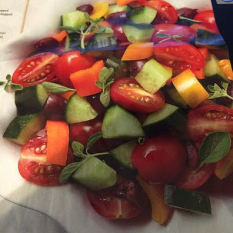 Pepper, Tomato and Cucumber Salad