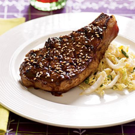Barbequed Pork Chops