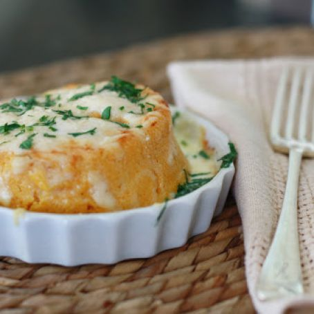 Twice Baked Sweet Potato Soufflés