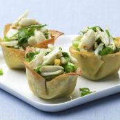 Appetizer- Crab Salad in Wonton Cups