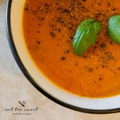 Fresh Cherry Tomato and Sweet Pepper Soup