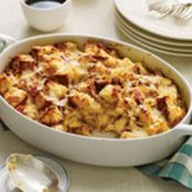 Fontina, Speck and Onion Strata