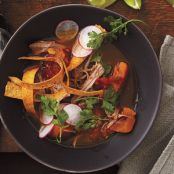Slow-Cooker Tortilla Soup with Pork & Squash