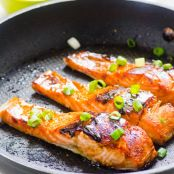 Easy Crispy Honey Garlic Salmon