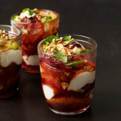 Dessert Misc: Orange and Yogurt Parfaits with Red Wine Caramel