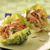 Spicy Chicken and Brown Rice Lettuce Wraps