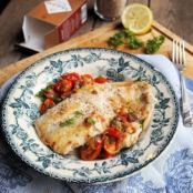 Haddock with Smoked Sea Salt Crust & Cherry Tomato Scramble