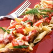 Pasta with Sausage, Red Peppers & Herbs