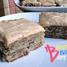 Banana Brownies with Frosting