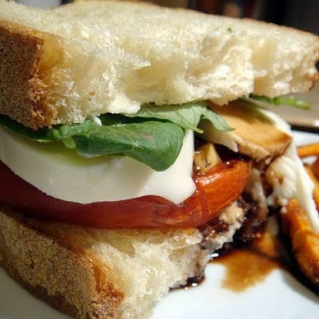 Balsamic Roasted Tomato Caprese Sandwich