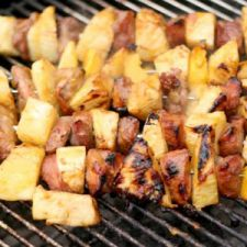 ZZ Grilled Pineapple Ham Kabobs