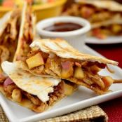 Chicken  BBQ, Apple, Bacon, Cheddar Quesadillas