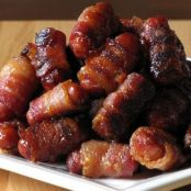 Bacon-Wrapped Li'l Smokies with Brown Sugar and Maple Glaze