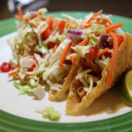 Applebee's Wonton Chicken Tacos