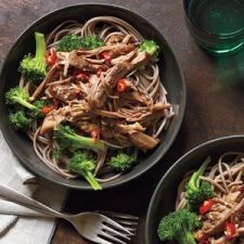 Slow-Cooker Asian Pork With Noodles and Broccoli