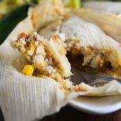 Vegan Green Chili & Lentil Tamales
