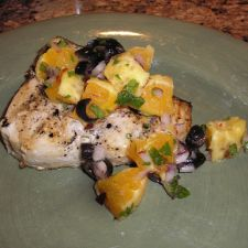 Grilled Fish with Orange Salad