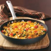 Vegetable Beef Bow Tie Skillet Recipe