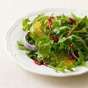 Arugula, Orange and Red Onion Salad with Raspberry Dressing
