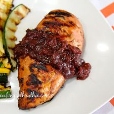 Chicken with Cherry Chipotle Sauce