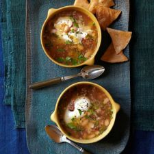 White Bean Soup With Poached Egg