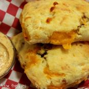 Bacon & Cheddar Biscuits with Maple Chipotle Butter